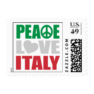 Peace Love Italy Postage Stamp