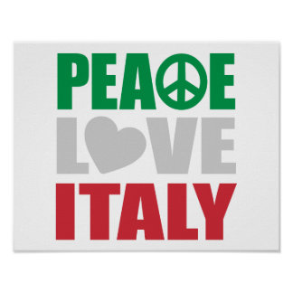 Peace Love Italy Poster