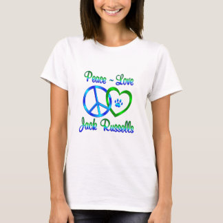 Peace Love Jack Russells T-Shirt