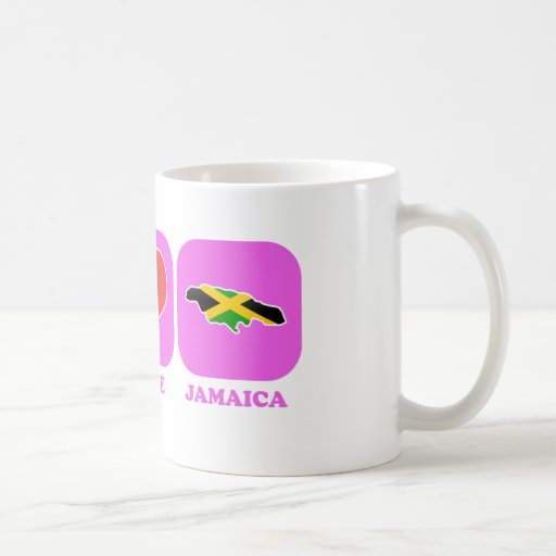 Peace Love Jamaica Coffee Mugs