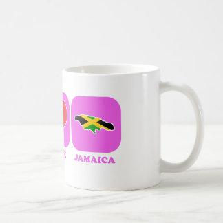 Peace Love Jamaica Classic White Coffee Mug