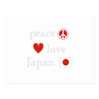 Peace Love Japan Postcard