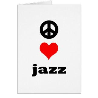 peace Love Jazz Card