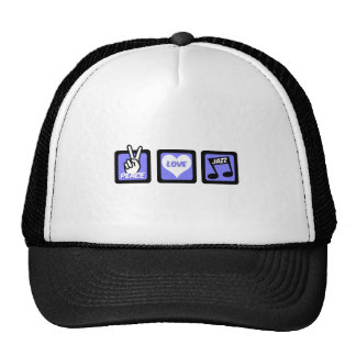 Peace love jazz mesh hat