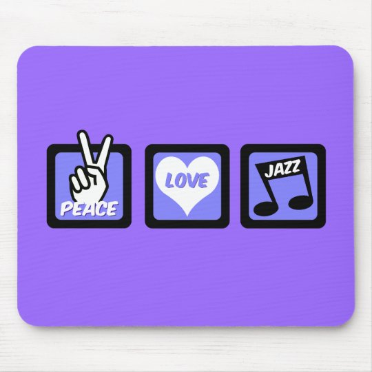 Peace love jazz mouse pad