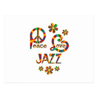 Peace Love Jazz Postcard