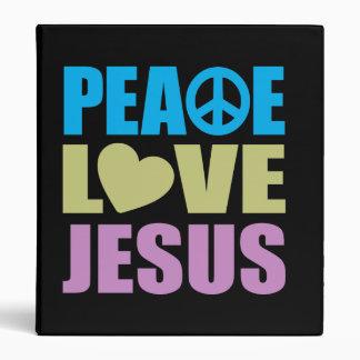 Peace Love Jesus Vinyl Binders