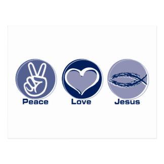 Peace Love Jesus Postcard