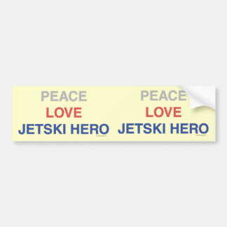 Peace Love Jetski Hero Bumper  Sticker