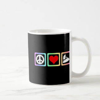 Peace love jetskiing coffee mug