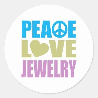 Peace Love Jewelry Classic Round Sticker
