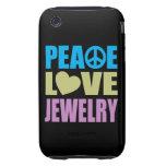 Peace Love Jewelry iPhone 3 Tough Case