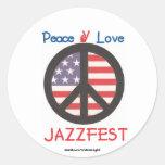 peace love jf classic round sticker