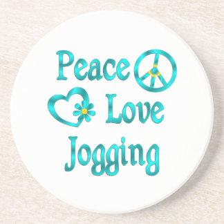 Peace Love Jogging Drink Coasters
