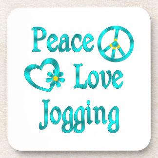 Peace Love Jogging Beverage Coasters