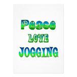 Peace Love Jogging Custom Invitation