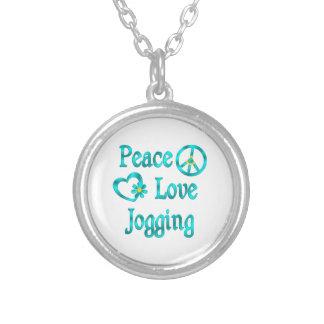Peace Love Jogging Custom Necklace
