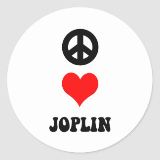PEACE LOVE JOPLIN CLASSIC ROUND STICKER