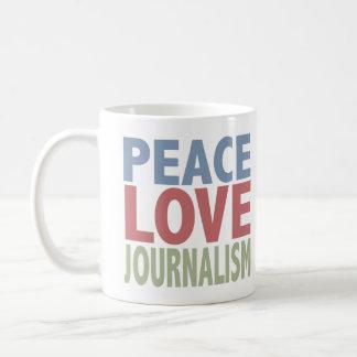 Peace Love Journalism Coffee Mug