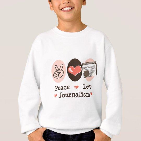 Peace Love Journalism Kids Sweatshirt