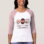 Peace Love Journalism Raglan Tee
