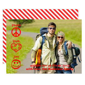 Peace, Love, Joy - 3x5 Christmas Card