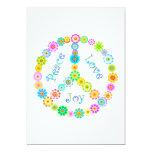 "Peace Love Joy 5"" X 7"" Invitation Card"