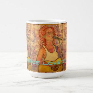 peace love joy acoustic girl coffee mug