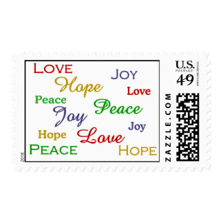 Peace, Love, Joy and Hope Stamp