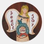 Peace,Love,Joy Angel Sticker