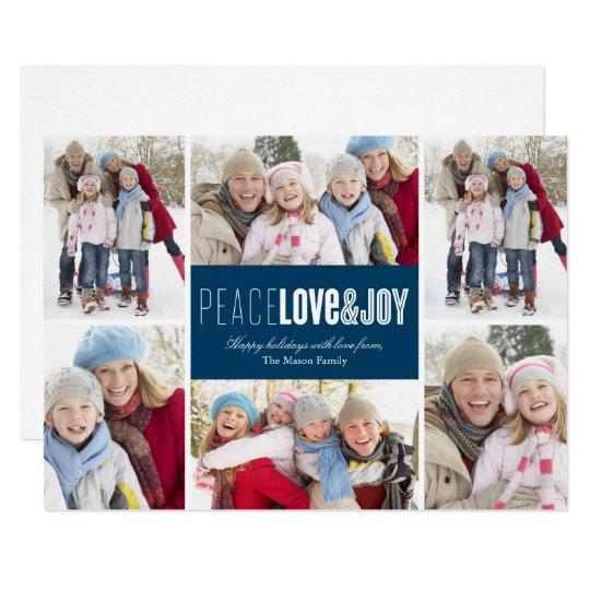 Peace, Love & Joy   Blue Card