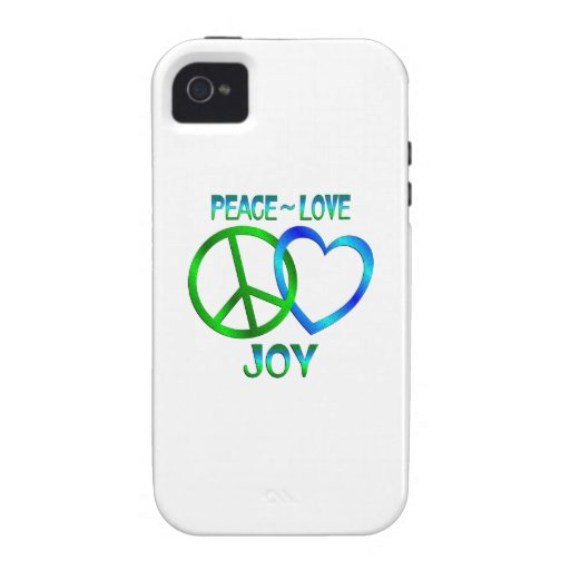 Peace Love JOY Case-Mate iPhone 4 Covers