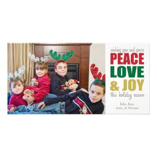 Peace Love & Joy Christmas Photocards Photo Card