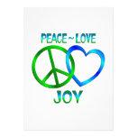Peace Love JOY Custom Invitations