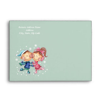 Peace, Love & Joy. Custom Text Christmas Envelopes