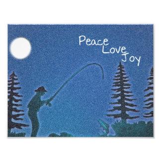 Peace, Love, Joy / Fly Fisherman in Snow Photo