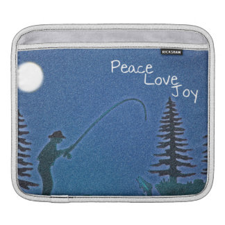 Peace, Love, Joy / Fly Fisherman in Snow Sleeve For iPads