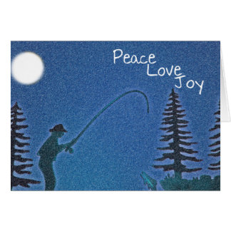 Peace, Love, Joy / Fly Fisherman in Snow Template