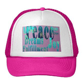Peace, Love, Joy, Fulfillment, Bright Future Trucker Hat