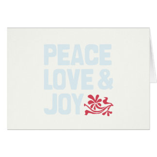 Peace Love & Joy Holiday Card