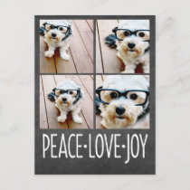 Peace Love Joy Holiday Chalkboard Photo Collage