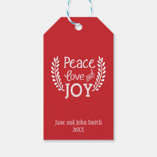 Peace Love Joy | Holiday Gift Tag