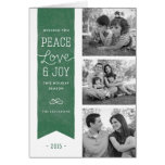 Peace Love & Joy Holiday Greeting Card - Pine