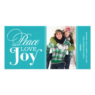 PEACE LOVE JOY   HOLIDAY PHOTO CARD