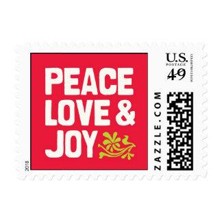 Peace Love & Joy Holiday Postage