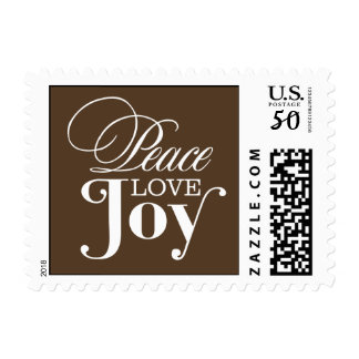 PEACE LOVE JOY  | HOLIDAY POSTAGE