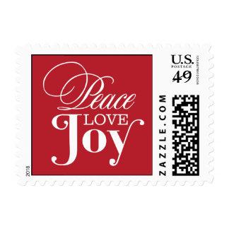 PEACE LOVE JOY    HOLIDAY POSTAGE