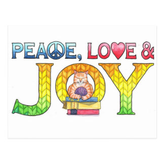 Peace, Love & Joy Inspirational Postcard