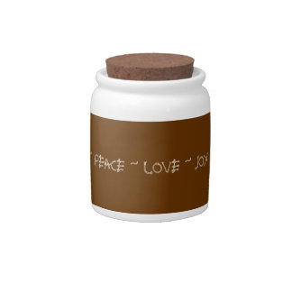 Peace Love Joy jar Candy Dishes