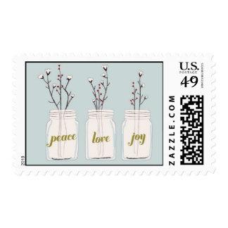 Peace, Love & Joy Jars Postage